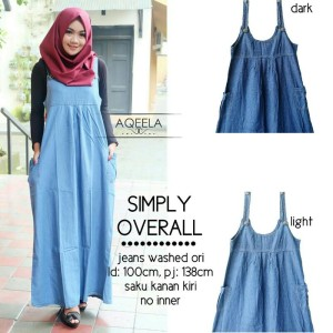 Dress Jeans Overall Wanita SIMPLY OVERALL