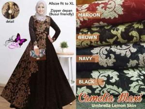 Long Dress Wanita Maxi Dress Muslim CAMELIA MAXI