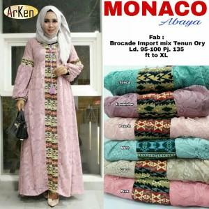 Maxi Dress Muslim Long DRess Wanita MONACO
