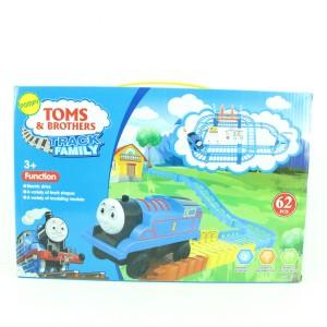 Kereta Thomas Toms and Brothers Track Family (62pcs)