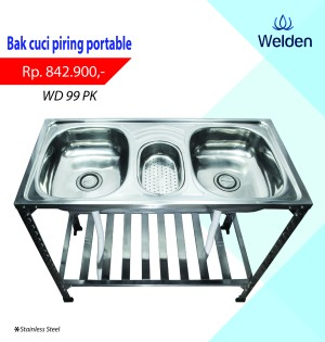 Bak Cuci Piring - Kitchen Sink Kaki Meja Portable Welden 99PK