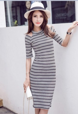A30448#Dress fashions import BLACK