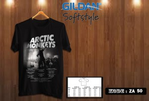 KAOS ARTIC MONKEYS TSHIRT GILDAN SOFTSTYLE ZA 50