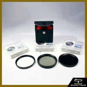 Paket Filter Protect (UV+CPL+ND8) 58mm