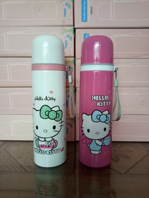 Termos Air 500 ml / Botol Minum 0,5 Liter Karakter Hello Kitty