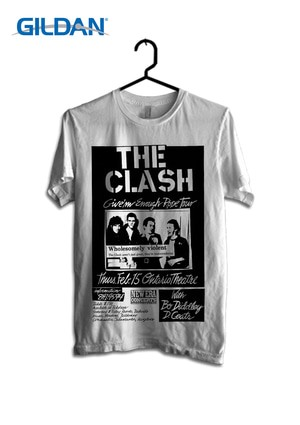The Clash - Rode Tour Kaos Band Original Gildan