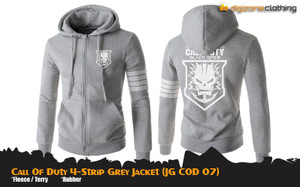 Jaket COD 4-Strip Grey Jacket