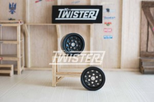 Gmade SR04 1.9 Stamped Steel Wheels - Matte Black