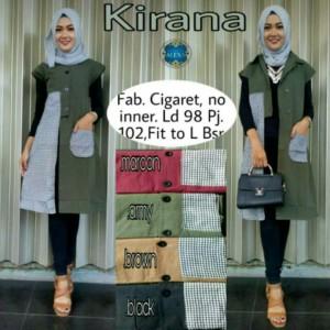 Kirana Vest Outer Outwear Cardy Hijab Muslim by Alexa
