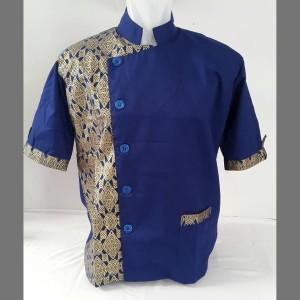 baju chef kombinasi batik
