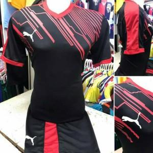 Setelan Futsal Dewasa Puma Power Hitam / jersey sepak bola baju tim