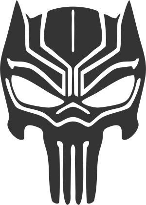 Cutting sticker black panther