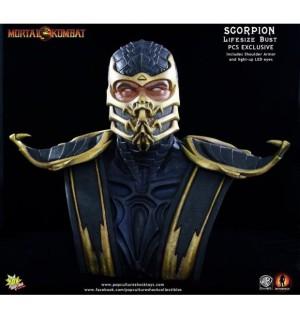 PCS Mortal Kombat IX Scorpion Life-Size Bust EXCLUSIVE