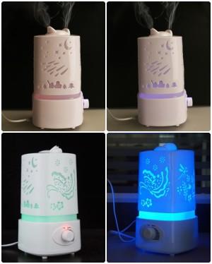 HH084 Alat Pelembab Ruangan 1,5L LED Gradation Humidifier Air Purifier