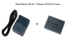 Paket Baterai NB-3L + Charger CB-2LUE Canon Digital IXUS 700, IXUS 750