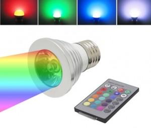 Bohlam LED RGB Dengan Remot Kontrol