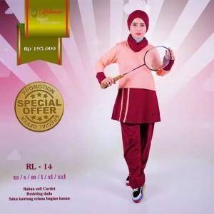 Setelan Baju Olahraga Muslim Rahnem RL 14