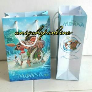 Custom Paper bag / Goodie bag Disney Moana ultah ilang tahun