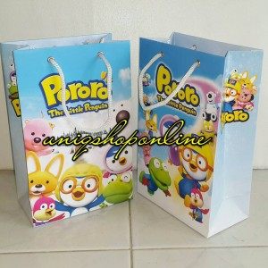 Personalized Paper Bag / Goodie Bag Pororo the little pinguin
