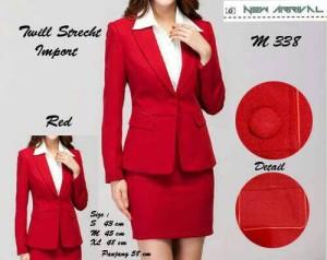 blazer kantor wanita merah