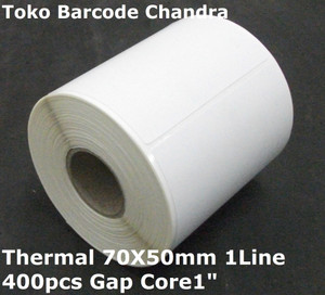 "70X50mm 1Line 400pcs Gap Core1"",direct thermal,Label Sticker Barcode"