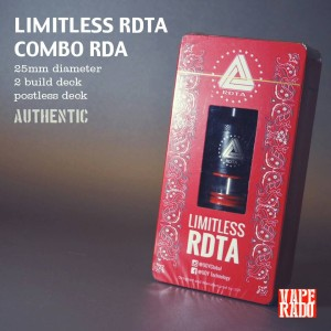 LIMITLESS CLASSIC RDTA 25mm BLACK|Authentic