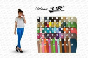 PANJANG POLOS SIZE S-STD (M-L) / Celana Legging 3R Bahan Katun - Cotton Stretch Pants