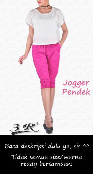 Joger Pendek 3R: Sporty jogger pants: Regular to Big XXXL Plus size