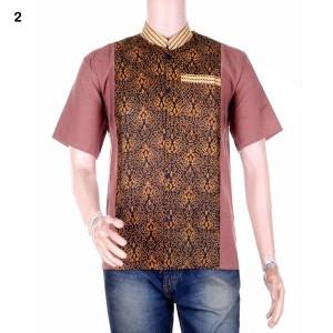 Baju Koko Batik Kombinasi | Busana Muslim Pria Ridho 2 Murah