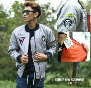 JAKET BOMBER NEW SCRIMMERS ABU