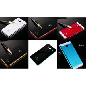 Aluminium Tempered Glass Hard Case Casing Cover Hp Xiaomi Redmi 2