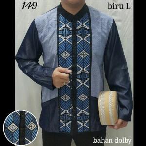 Ready Z Baju Koko Biru 149 Panjang L