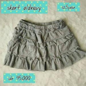 skort rok celana old navy branded rok anak kids original