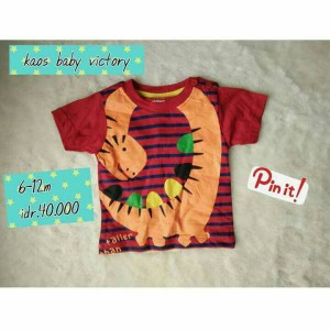 kaos bayi baby victory branded original