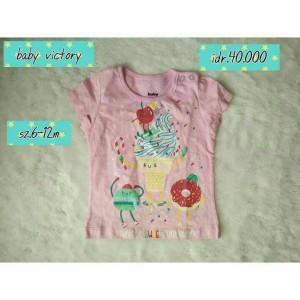 kaos anak bayi baby branded girl baby victory