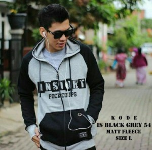 Jaket Insight Fockcoups Finger Hitam Abu Sweater Hoodie Grosir Murah