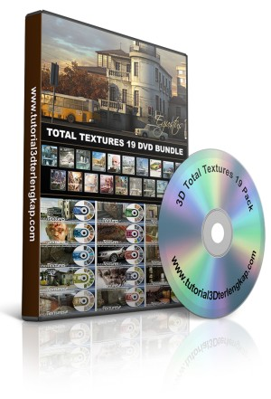 3DTotal Textures 19 Pack Architecture for 3ds Max, Sketchup, ArchiCAD