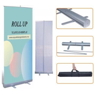 Kerangka Tiang Roll Up Banner Bahan Stainless