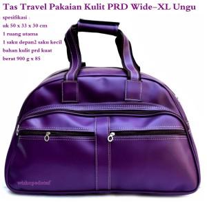 Tas terbaru Jinjing Travel Besar Kulit PRD Wide XX-Large ungu