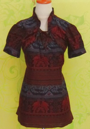 Blouse Batik C0217 BOLERO MERAH BIRU