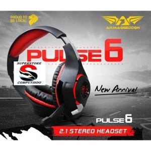 Armaggeddon Pulse 6 Gaming Headset - Merah - Best Buy