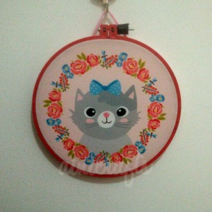 Hoop Art Kucing Pink 20 cm