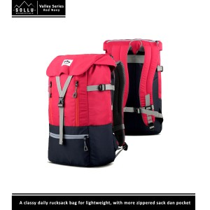 Tas Punggung / Rucksack Laptop Sollu Wanderpack Valley Red Navy