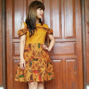 Dress Batik Cap Kupu