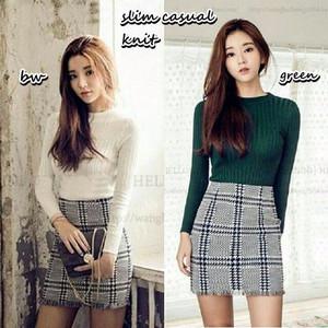 Baju Atasan Perempuan Model Slim Sweater/ Nyaman Dipakai/ Bagus