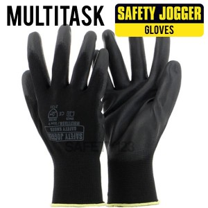 Jogger Multitask Working Gloves Sarung Tangan Kerja Hitam Multi Task