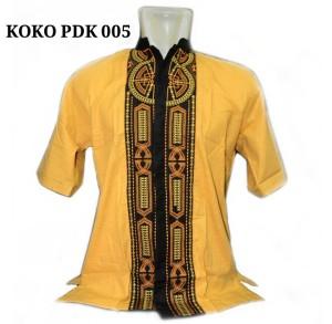 Baju Koko Muslim Motif - Pria Laki Cowo - Lengan Pendek - PDK 005