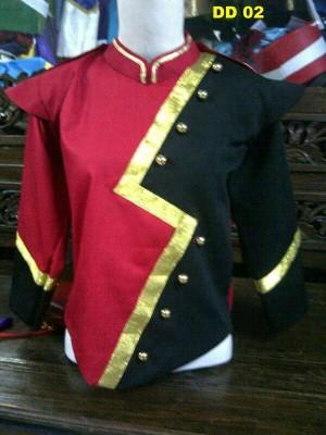 Baju Kostum marchingband / drumband blackred