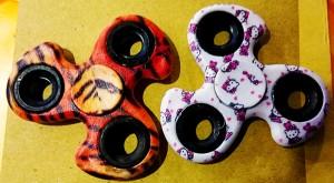 Fidget Spinner Motif Macan dan Hello Kitty / Spiner Hand Toys