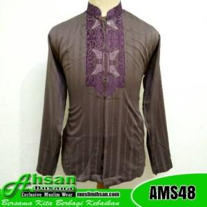 Baju Takwa Motif Aceh AMS48 Keunguan